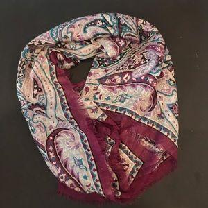Silk & Cashmere Blend Scarf | Semi Sheer